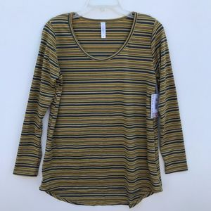LuLaRoe Lynnae Striped LS T Shirt NWT #1723